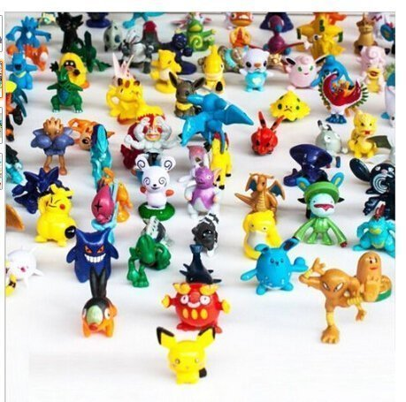 XINPIN 144 pcs Pokemon Monster Mini Figure 2-3cm in Random