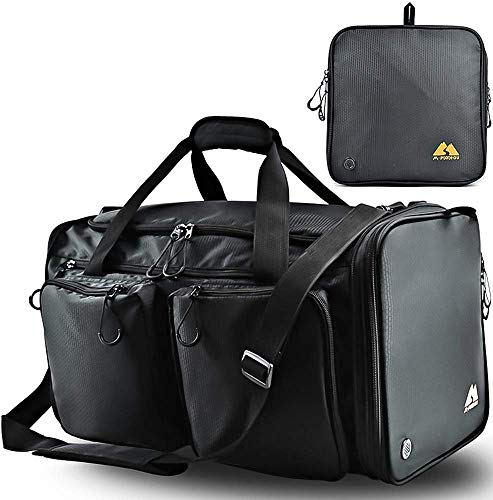 2020 New Large Gym Bag,Overnight foldable Duffle with shoes and wet compartment 40L for Driving Tours,Sports,Travel,Football,Basketball,gym,yoga package be fit for men and women,girl,boys,backpacks