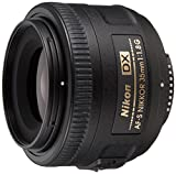 Nikon AF-S Nikkor - Objetivo con Montura para Nikon (35 mm, f/1.8, DX), Color Negro