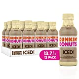 iced coffee french vanilla - Dunkin Donuts Iced Coffee, French Vanilla, 13.7 Fluid Ounce (Pack of 12)