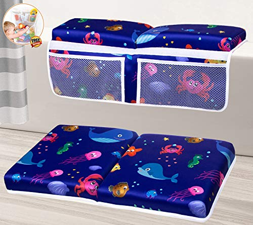 Baby Bath Kneeler and Elbow Rest Pad Set, Bathtub Kneeler Pad, Baby Bath Elbow and Knee Pad, Bathtub Kneeler and Elbow Rest Set, Tub Kneeler Pad and Arm Rest Mat, Bath Kneeling Pad for Bathing Baby