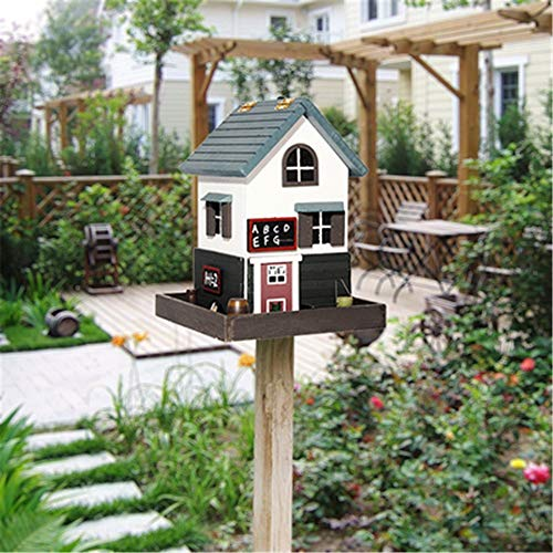 Vogel-Haus Vertikal Im Freien Vogelhäuschen Im Englischen Stil Hof Gartenhaus Voliere Vogelhäuser Vogelhaus Einfallsreich Im Freien Holzvogelhäuschen Handgefertigt Natürliches Beige- Holz Handgemachte