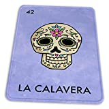 マウスパッド ゲーミングマウスパッド-死んだ砂糖頭蓋骨メキシコの宝くじパロディのラカラヴェラの日滑り止め デスクマット 水洗い 25x30cm
