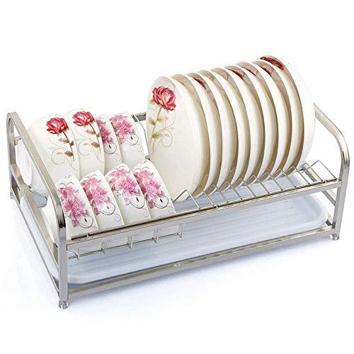 ShiSyan Acero de la Cocina Rack vajilla Tendedero, Almacenamiento Cubiertos Rack, Desmontable Bandeja de Drenaje Taza del Plato tendedero Cestas para Cubiertos