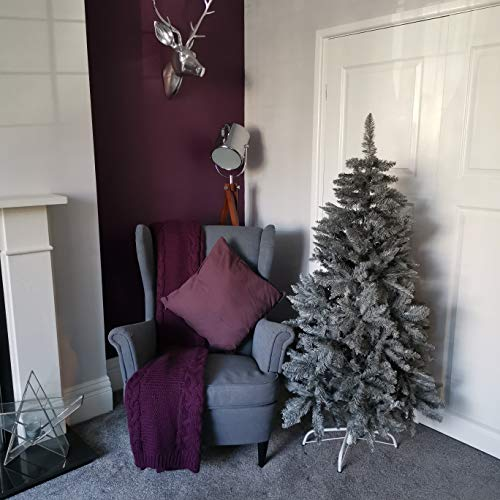 Samuel ALEXANDER 5ft (150cm) Luxury Charcoal Pine Grey Christmas Tree with 509 Tips
