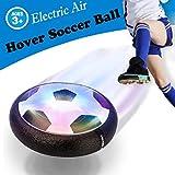OUNDEAL Juguete Balón Fútbol Flotant, Pelota Futbol Recargable, Air Power Soccer con Coloridas Luces LED, Juguetes Aire Fútbol para Niños Niñas