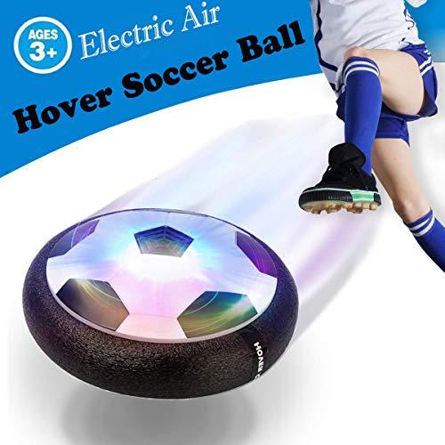 OUNDEAL Pallone Calcio Fluttuante, Hover Soccer Ball, Air Hover Calcio da Interno Fluttuante con Luce LED, Giocattoli per Bambini di 3-12 Anni