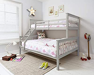 Noa and Nani - Hanna Triple Bed Kids Bunk Bed - (Silk Grey)