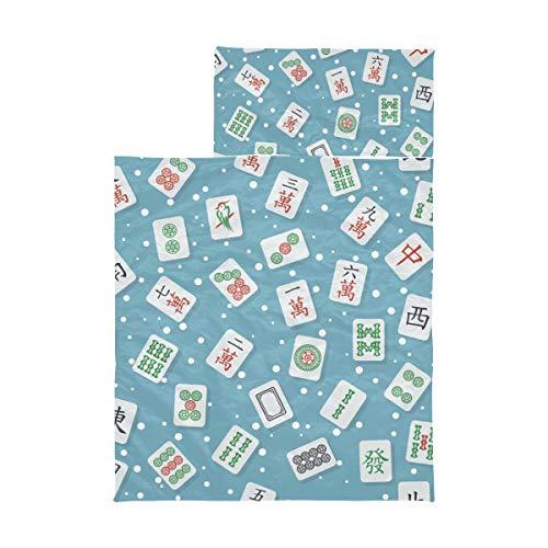 Nickerchen Matten für Kinder im Vorschulalter China Entertainment Mahjong Tischspiel Kinder Kindertagesstätte Schlafsack Weiche Mikrofaser Leichte Kindermatte Nickerchen Perfekt für Vorschule, Kinde