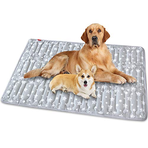 """Dog Crate Mat (42"""" X 28""""), Soft Dog Bed Mat with Cute Prints, Personalized Dog Crate Pad, Anti-Slip Bottom, Machine Washable Kennel Pad"""