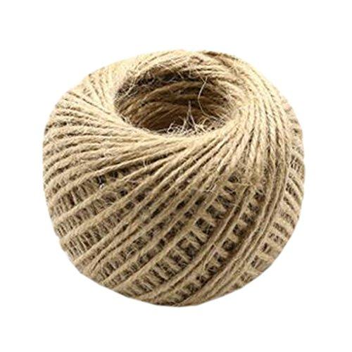 Blancho Main tricotant la Corde de Chanvre Bricolage Ruban Satin décoratif Riband Ficelle H