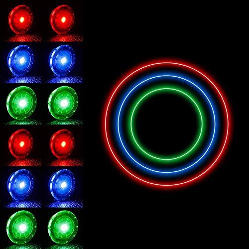 You&Lemon 12 Stücke Fahrrad Rad Lichter, LED Wasserdichtes Sicherheitslicht, Fahrrad Reifen Licht, Fahrrad Dekoration Kit, Speichen Lichter für Hunde