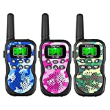 Tintec Walkie Talkies 3 Pack, Upgraded Version Camouflage Exterior 22 Channels 2 Way Radio Toy with Backlit LCD Flashlight, 3 Miles Range for Kids, Outdoor Adventures, Camping, Hiking
