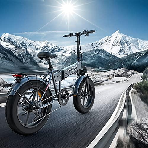 RUBAPOSM Bicicleta Eléctrica Plegable para Adultos 250w, Viaje Al Aire Libre de Bicicleta de Bici Montaña Eléctrica Todo Terreno de 20 Pulgadas con Pedal Auxiliar Tres Modos