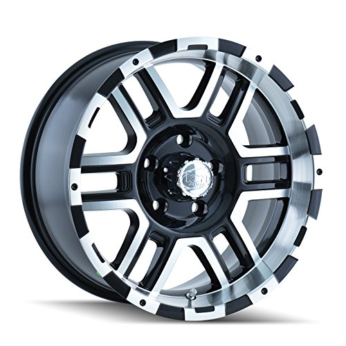 Ion Alloy 179-6835B Style Black Wheel with Machined Face/Lip (16x8'/5x135mm)