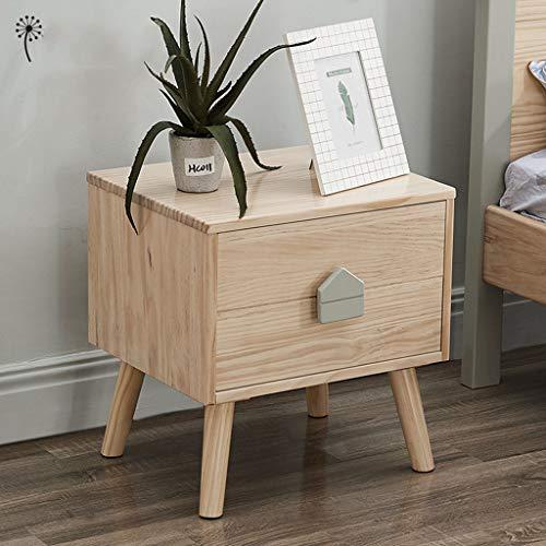 WWJZXC Mesita de noche con 2 cajones de diseño moderno mesa auxiliar para dormitorio, sala de estar, apartamento, piano, unidad de almacenamiento de pintura