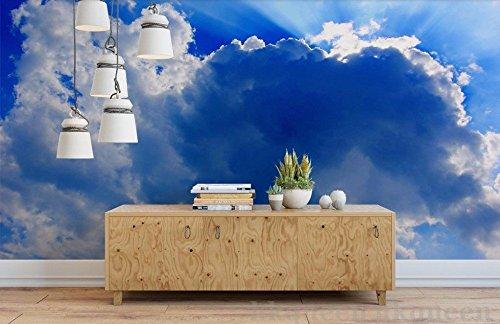 Yosot Home Decor Honing Blauw en wolkenpapier voor wanddecoratie voor 3D-wanden, voor muur en muur 350cmx245cm