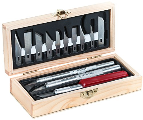 Excel Blades Sharp Hobby Knife Set, Precision Cutting Tool Set for Vinyl, Paper, Wood, Leather, Craft Knife Bulk Set Includes Light To Heavy Duty Knives and 13 Blades