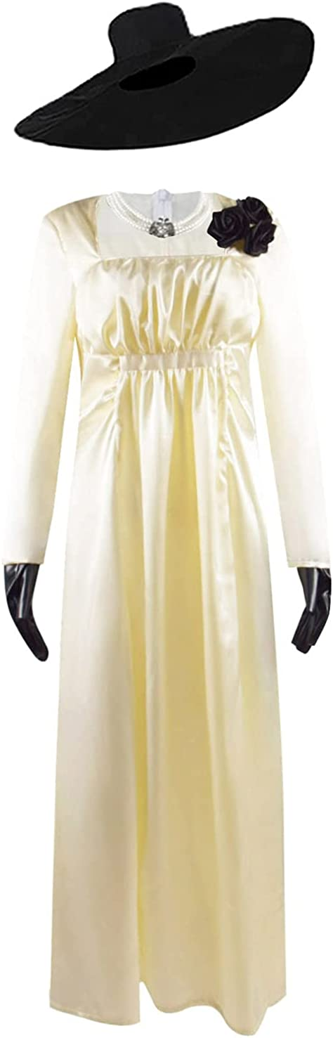 Oklahoma City Mall Vampire Lady Alcina Dimitrescu Cosplay Dress Long Unifor Gorgeous Costume