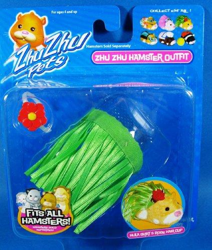 Zhu Zhu Hamsters - Tenue Jupe Hula & Corolle de Rose pour Cheveux