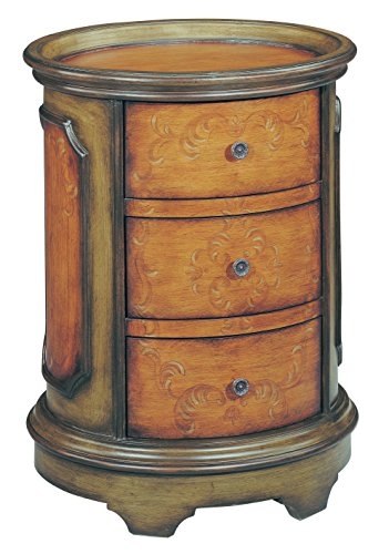 Stein World Furniture Natalie Accent Table, Antique Green, Brown