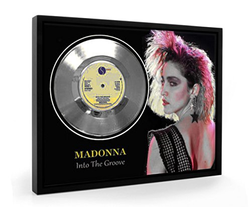 Madonna Into The Groove Framed Disco d'argento Display Vinyl (C1)