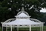 CLP Dach für Luxus Pavillon ROMANTIK (Durchmesser: 350 oder 500 cm), wasserdichte PVC Plane, Farbe:weiß, Größe:Ø 500 cm