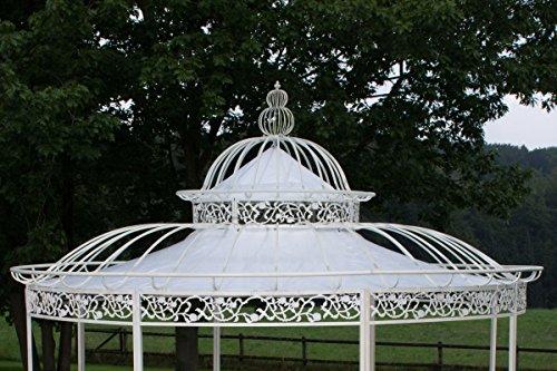 CLP Dach Pavillon ROMANTIK (Durchmesser: 350 oder 500 cm), wasserdichte PVC Plane 350 cm, Weiß