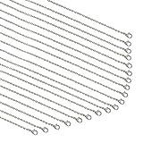 PandaHall Elite - Cadena de 20 hilos, chapada en plata, cadena de cable a granel para hace...