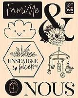 DIYスクラップブッキング/カード作成/キッズクリスマス楽しい装飾用品と死ぬためのフランスの透明なクリアスタンプ