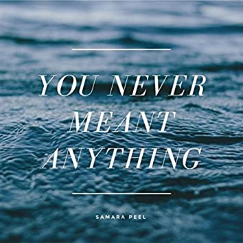 You Never Meant Anything