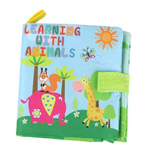 MagiDeal Libro de Aprendizaje para Bebés de Paño Lengua,Lingüística...