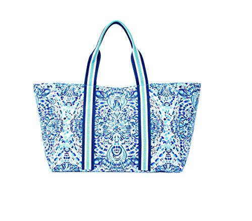 Lilly Pulitzer Lillys Lagoon Tote (Resort White Call My Shell Phone)