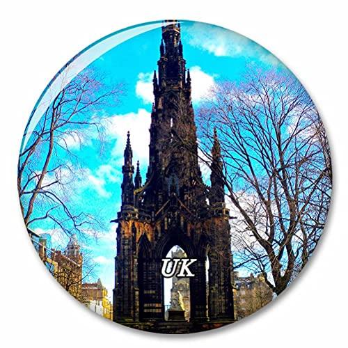 Reino Unido Inglaterra Scott Monument Edimburgo Imán de Nevera, imánes Decorativo, abridor de Botellas, Ciudad turística, Viaje, colección de Recuerdos, Regalo, Pegatina Fuerte para Nevera