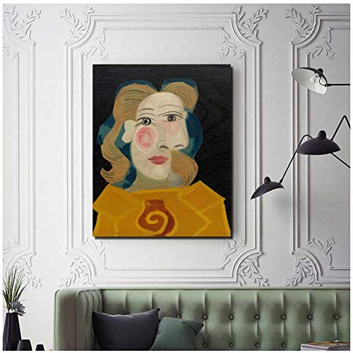 Pablo Picasso Head A Woman Dora Maar Canvas Living Room Home Decoration Modern Wall Art Painting Posters Picture -60x80cm Sin Marco