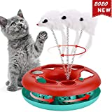 Interactive Cat Toys Roller, Spring Cat Toys with Catnip, Kitten Tracks, Pet Toy with Moving Balls Teaser...