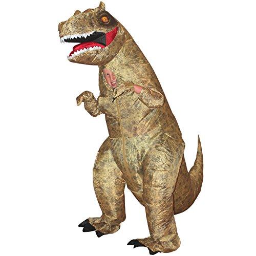 Morph MCKID Aufblasbares Kostüm, T-Rex Dinosaurier Kinder, Einheitsgröße