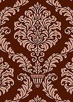 igsticker ポスター ウォールステッカー シール式ステッカー 飾り 841×1189㎜ A0 写真 フォト 壁 インテリア おしゃれ 剥がせる wall sticker poster 004282 その他 模様 エレガント ブラウン