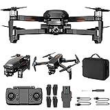 GACYSMD Drone para NIÑOS 8-12 con 4K Cámara Visión Nocturna RC Quadcopter con GPS Auto Retorno Sígueme el Drone portátil (2 baterías + Funda de Transporte)