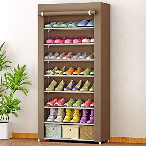 KNJF Gabinete de Zapatos para el hogar Organizador de gabinete de Almacenamiento de Zapatos de Closet 8 Niveles de Zapato con Cubierta a Prueba de Polvo para Cocina Dormitorio Sala de Estar