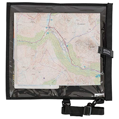 Highlander Unisex_Adult Protective cover for hiking maps Water-repellent Wanderer Waterproof Hiking Map Case Cover & Neck Strap, Black, 30 cm
