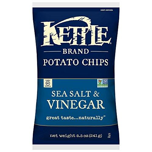 Kettle Brand Potato Chips Sea Salt and Vinegar, 8.5 oz, 6 ct