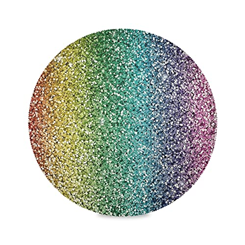 JNlover Colorful Rainbow Galaxy Kitchen Round Placemats Set of 4, Heat Resistant Non-slip Washable Dining Table Mats, 15.4 inch