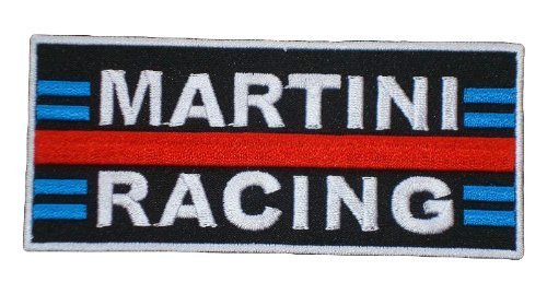 MARTINI RACING Vintage Porsche 918 Team Clothing Patch Sew Iron on Logo Embroidered Badge Sign Emblem Costume BY Dreamhigh_skyland