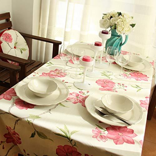 WEIFENG Mantel de algodón Mayor Serie de Mesa de Comedor Coreano Toalla de Mantel Textil para el hogar Rosa 140 * 200cm