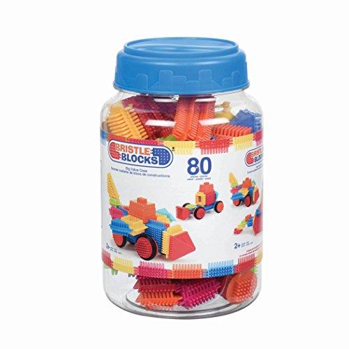 Bristle Blocks by Battat – The Official Bristle Blocks – 80Piece Big Value In A Storage Bin – STEM Toys 3D Sensory Toy Blocks for Kids – Bpa Free – Building Toys for Creativity & Dexterity – 2 Yea