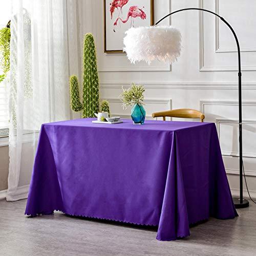 XQSSB Mantel Mesa Cocina Rectangular Antimanchas Durable para Moderno Festival Fiesta Púrpura 180 × 240cm