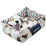 lovecabin Cama Perro Impermeable Lavable, Cama Cómoda para Mascotas, Desenfundable Funda Oxford Funda Antiarañazos, para Interior Al Aire Libre, Suelos,Asientos De Coches,sofáM