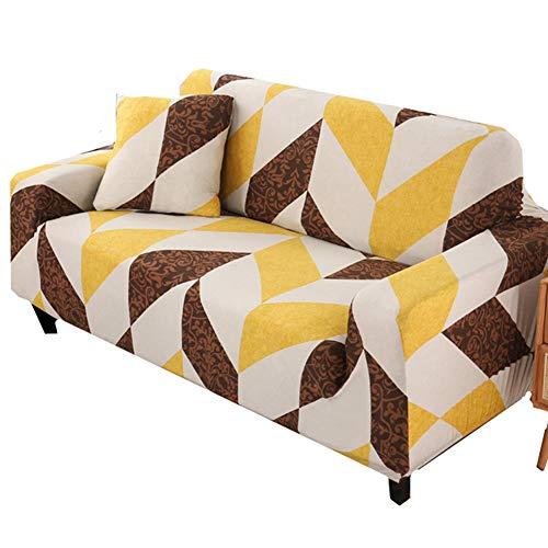 HAODEE Cubre Sofa Fundas De Sofá Que Se Adaptan Perfectamente A La Cobertura Total De La Funda De Sofá Protectores De Sofá De ImpresióN Hermosa para Mascotas 141-181,Yellow
