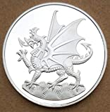 Beautiful Collection of Coins Welsh Red Dragon Commemorative Coin Commemorative Coin Badge Embossed Plated Coins Collectibles Art Souvenir Friends Gifts for Dad/Boyfriends/Husband Gift Forever